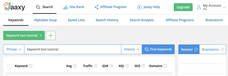 Wealthy Affiliate Keyword Tool Jaaxy Review