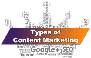 Types of Content Marketing 2018 - Web Content Marketing