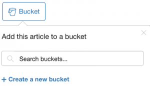 Content Writing Tool Bucket Folders