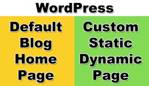 WordPress Blog Or Static Page