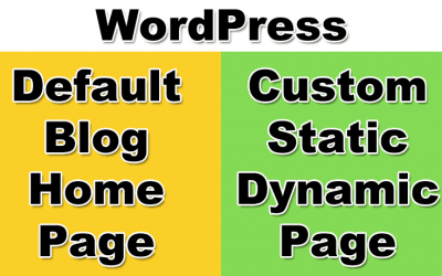 What Is A Static Page In WordPress The Static Front Page Option